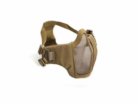 ASG Metal mesh mask with cheek pads, Tan